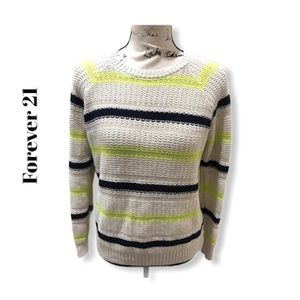 Forever 21 Striped Knit Sweater Size S